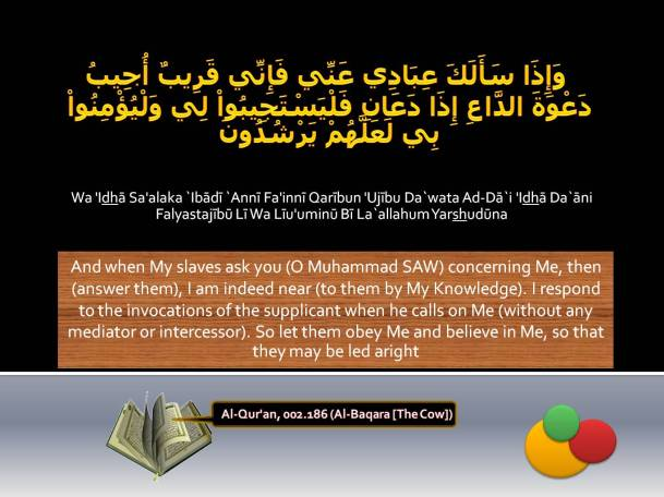 Al-Qur'an, 002.186 (Al-Baqara [The Cow])